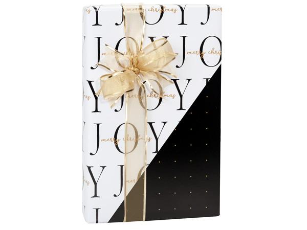"Joyful Christmas Reversible Gift Wrap, 24""x85' Cutter Roll"