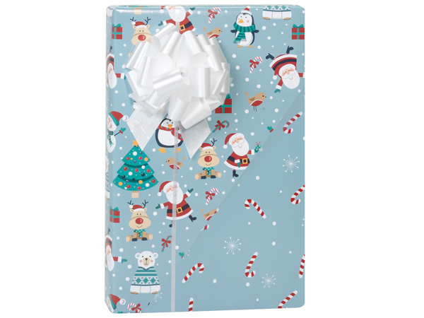 """Christmas Critters Reversible Gift Wrap, 24""""x85' Cutter Roll"""