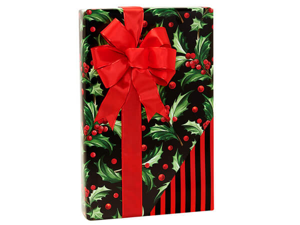 """Happy Holly Days Reversible Gift Wrap, 24""""x85' Cutter Roll"""