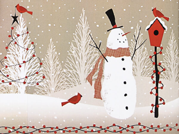 Woodland Snowman Recycled Gift Wrap