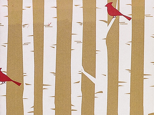 """Woodland Cardinals Wrapping Paper 24""""x417' Counter Roll"""