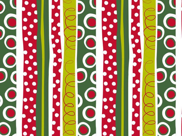 "Jolly Christmas Stripe Gift Wrap 24""x85' Cutter Roll"