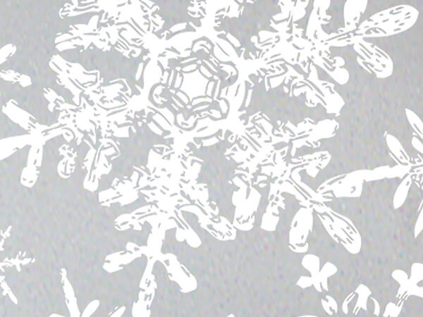 Christmas Snowflakes Silver Gift Wrapping Paper