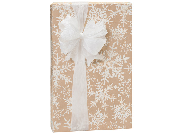 "Christmas Snowflake Kraft Gift Wrap 24""x85' Cutter Roll"