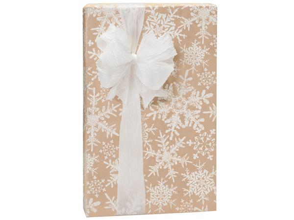 "Christmas Snowflake Kraft 24""x417' Roll Gift Wrap"