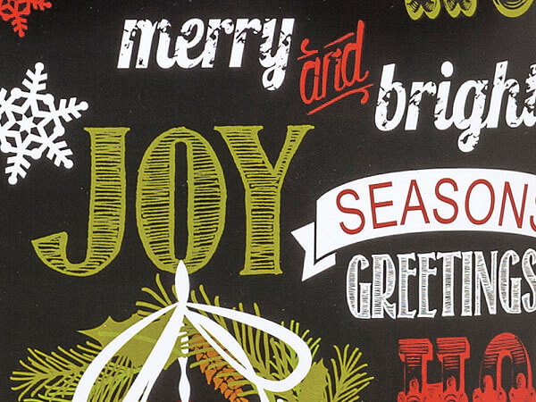 Chalkboard Wishes Gift Wrapping Paper
