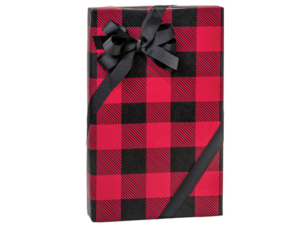 buffalo plaid 24x417 gift wrap nashville wraps - Christmas Plaid