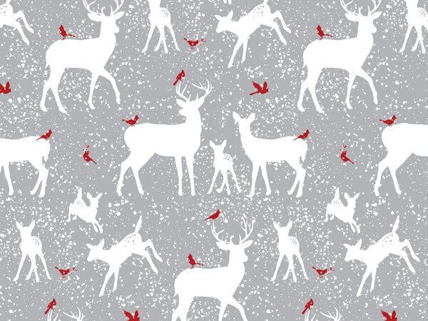 """Woodland Frost Reindeer 24""""x85' Roll Gift Wrap"""