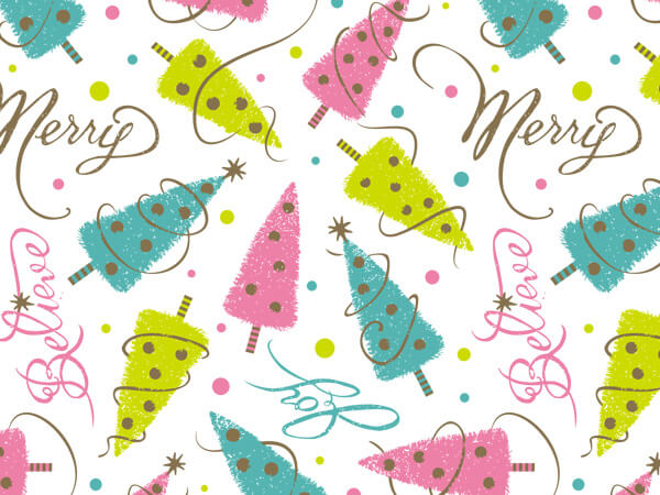 "Golden Wishes 24""x85' Roll Gift Wrap"