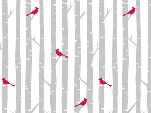 "Cardinal Frost 24""x417' Recycled Gift Wrap Counter Roll"