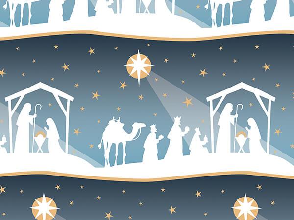 "Nativity Star 24""x85' Gift Wrap Cutter Box"
