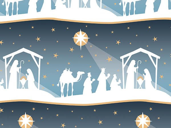 "Nativity Star 24""x417' Gift Wrap Counter Roll"