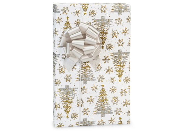 "Mercury Glass Christmas Gift Wrap 24""x417' Counter Roll"
