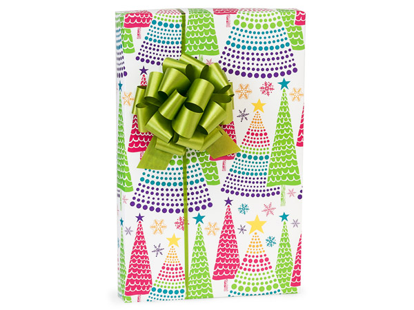 """Bright Trees Gift Wrap 24""""x85' Cutter Roll"""