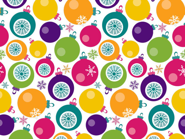 Bright Ornaments  Gift Wrap