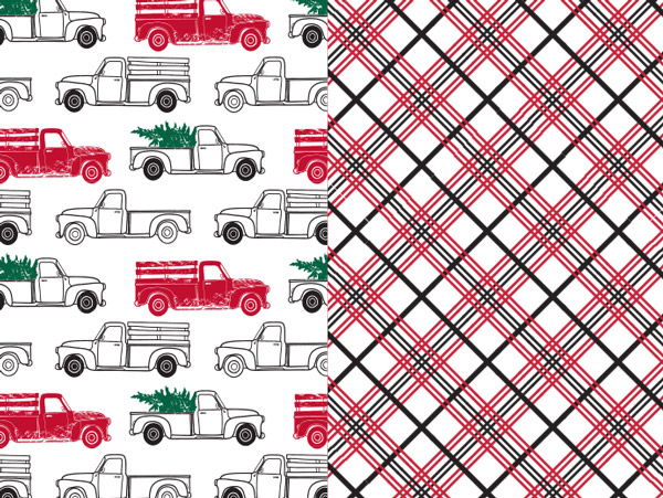Country Pick-Up Reversible Gift Wrap