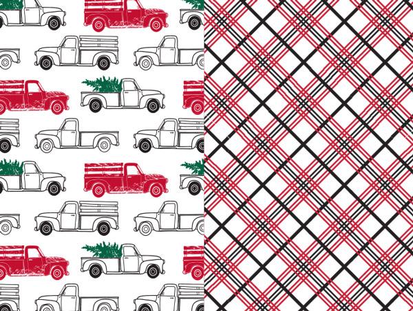 Country Pickup Premium Reversible Gift Wrap