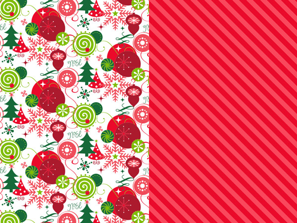 """Merriment Reversible Wrapping Paper 24""""x417' Counter Roll"""