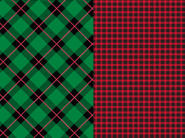 "Scotch Plaids Reversible Gift Wrap 24""x417' Counter Roll"