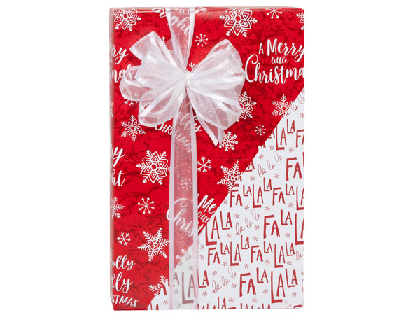 """Merry Little Christmas Reversible Gift Wrap, 24""""x417' Counter Roll"""