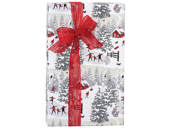 """Winter Snowday Wrapping Paper 24""""x417' Counter Roll"""