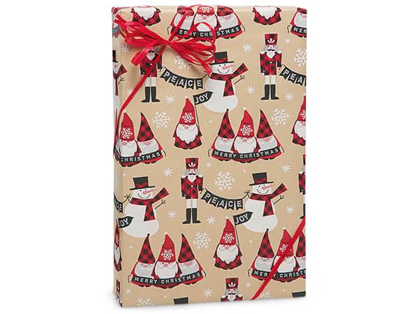 Buffalo Plaid Wishes Premium Recycled Gift Wrap