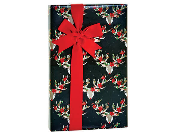"""Christmas Reindeer Gift Wrap, 24""""x85' Cutter Roll"""