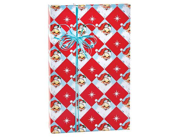 "Vintage Santa Gift Wrap, 24""x85' Cutter Roll"