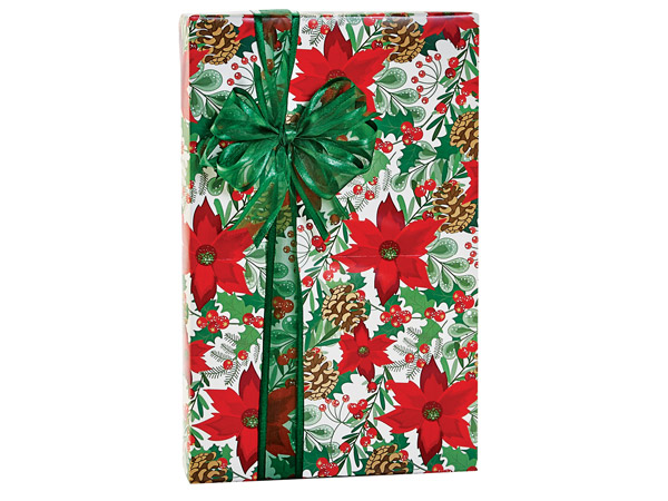 """Christmas Botanicals Gift Wrap, 24""""X417' Counter Roll"""