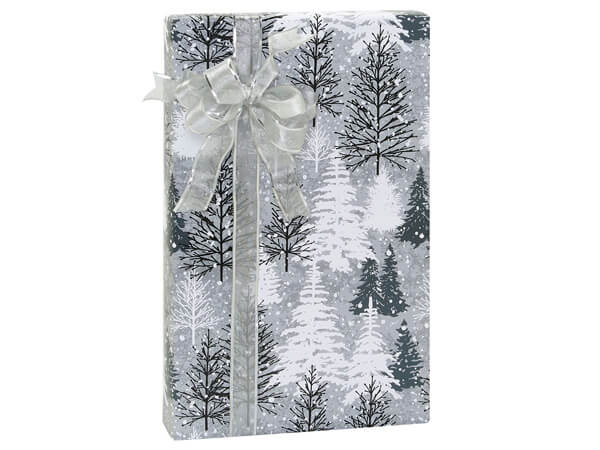 """Frosted Forest Gift Wrap, 24""""x85' Cutter Roll"""