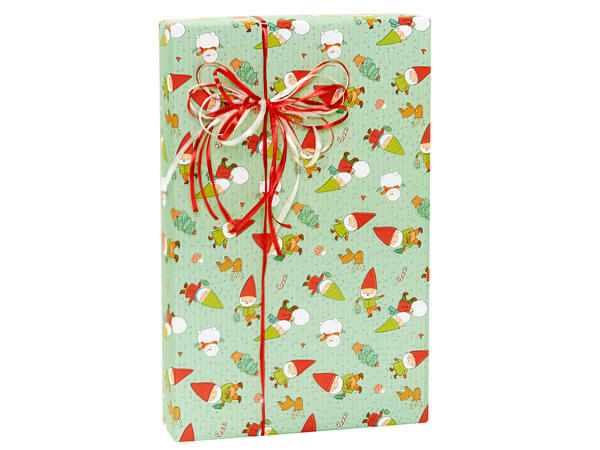 """Gnomes Holiday Gift Wrap, 24""""X417' Counter Roll"""