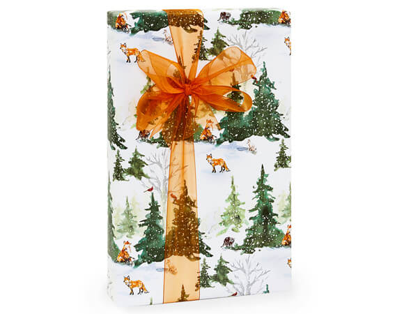 """Woodland Creatures Gift Wrap, 24""""x85' Cutter Roll"""