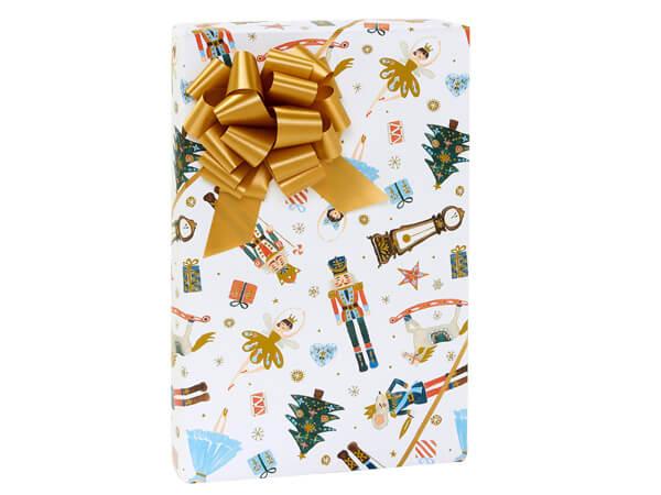 """Nutcracker Dance Gift Wrap, 24""""x85' Cutter Roll"""