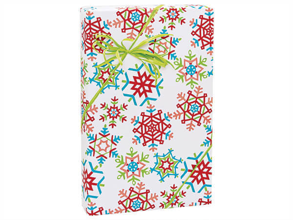 """Festive Snowflakes Wrapping Paper 24""""x417' Counter Roll"""