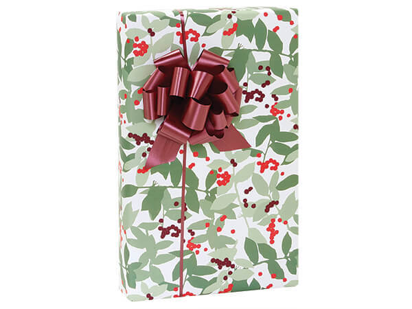 """Holly Berry Wrapping Paper 24""""x417' Counter Roll"""