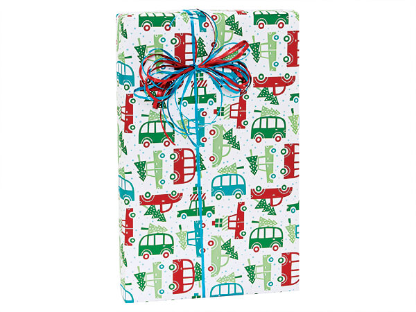 """Home For Christmas Gift Wrap 24""""x85' Cutter Roll"""