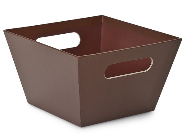 """X-Large Chocolate Square Gourmet Market Tray 8x8x5"""""""