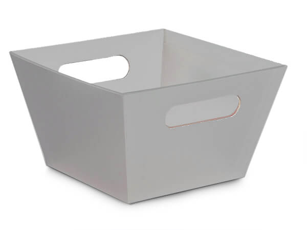 Silver Square XLarge Wide Base Market Tray