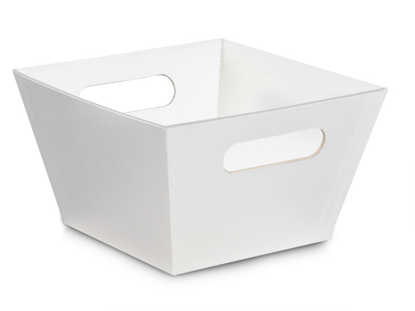 X-Large White Square Gourmet Market Tray 8x8x5""