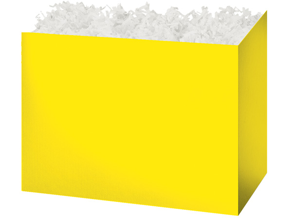 Large Solid Yellow Basket Boxes 10-1/4x6x7-1/2""