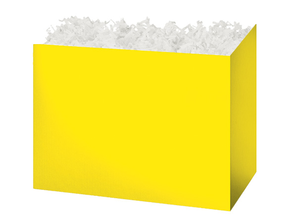 Medium Solid Yellow Basket Boxes 8-1/4x4-3/4x6-1/4""