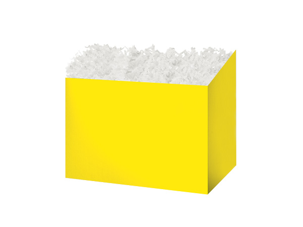 """Small Solid Yellow Basket Boxes 6-3/4x4x5"""""""