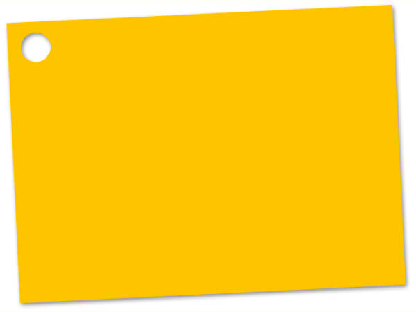 Solid Yellow Theme Gift Cards 3-3/4x2-3/4""