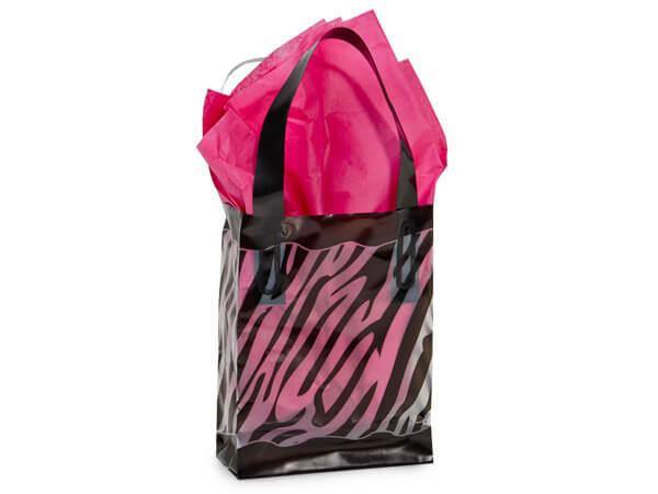 "Zebra Plastic Gift Bags, Jewel 4x2x5.25"", 250 Pack"