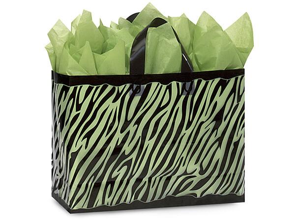 "Zebra Plastic Gift Bags, Vogue 16x6x12"", 25 Pack"
