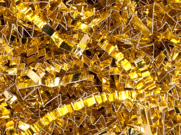 Metallic Gold Crinkle Cut Shredded Paper, 3 oz. Bag