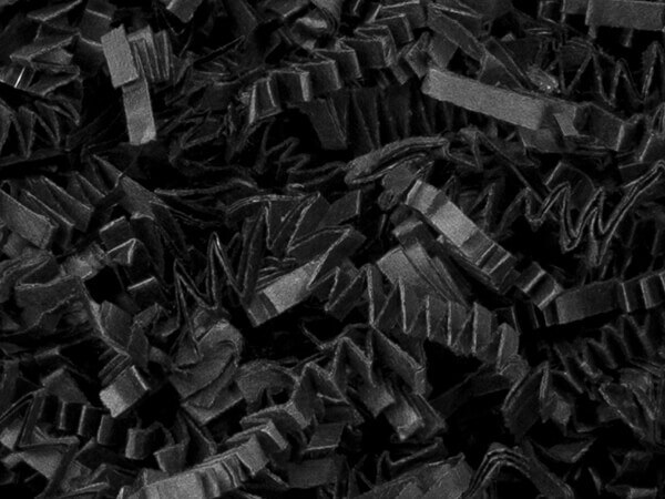 Black Crinkle Cut Shredded Paper, 8 oz Bag
