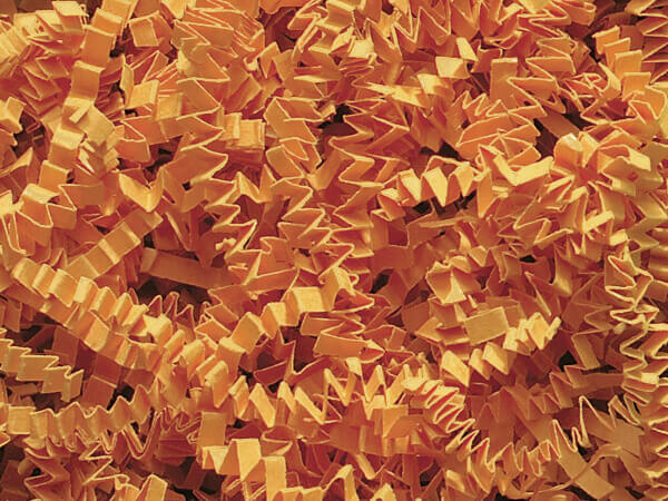 Cognac Crinkle Cut Shredded Paper, 8 oz Bag