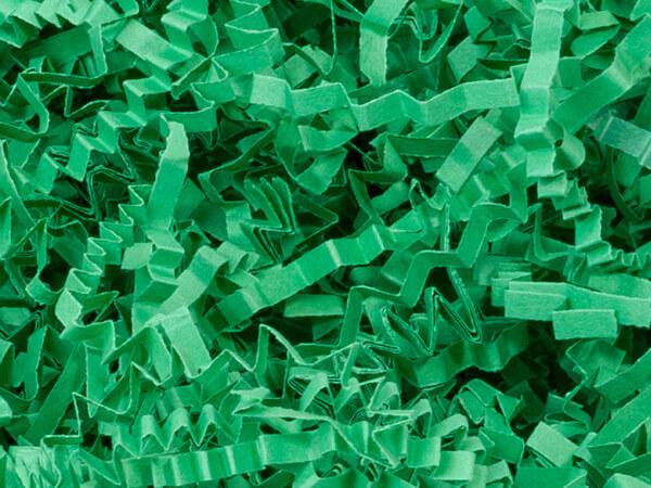 Green Crinkle Cut Paper Shredded Paper, 8 oz Bag