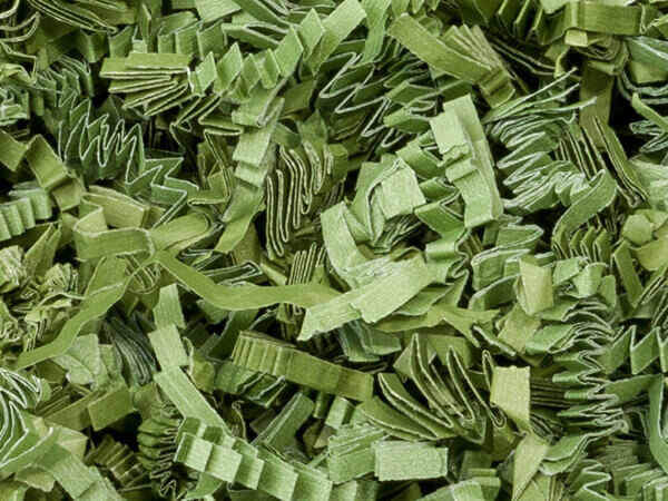 Green Tea Crinkle Cut Shredded Paper, 8 oz Bag